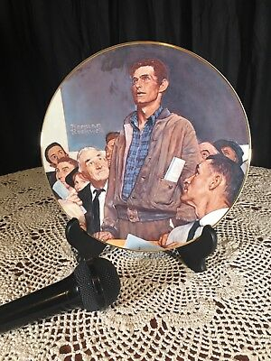 "Norman Rockwell Collector Plate 9.5"" ""Freedom of Speech"" 1981"