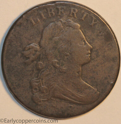 1798 S183 RARE R5 Draped Bust Large Cent Raw FINE Allen D. Roses collection
