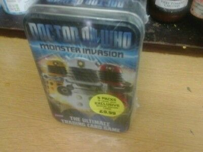 BBC Doctor Who Monster Invasion 1 5PACKS TIN Trading Card Game TOY BRAND NEW
