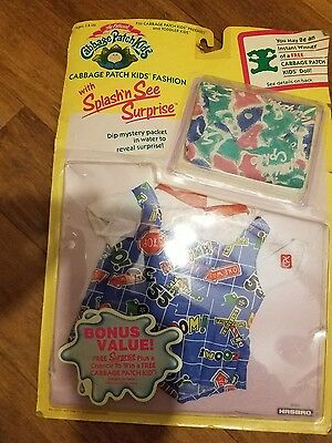 vintage cabbage patch doll fashion outfit with mystery packet 1990