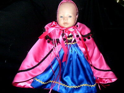 Frozen Inspired Princess Anna  Outfit For Newborn Baby Or Reborn 19 To 20 Inches