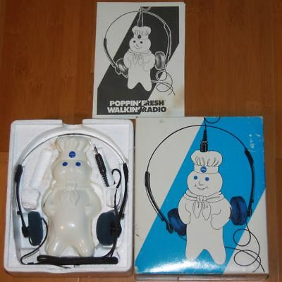 Vintage 1985 PILLSBURY Dough Boy Poppin' Fresh Walkin' Radio