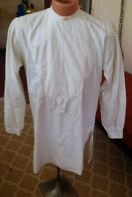 Antique Long Sleeve Dress Shirt With Front Placard
