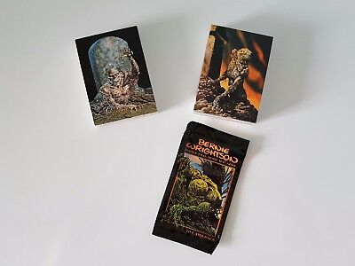 BERNIE WRIGHTSON Series 1 & 2 Card Sets with Wrapper Fantasy Art