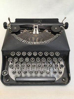 Vintage Remington Rand Cadet Portable Typewriter and Case