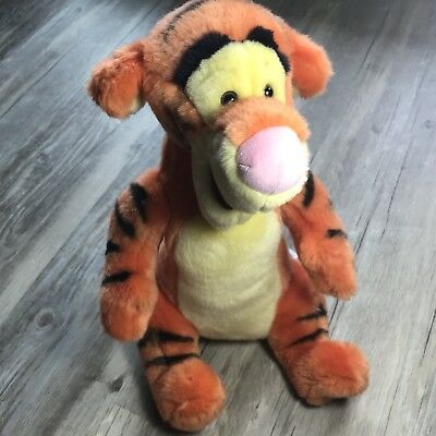 "Tigger Disney Store Exclusive Original 11"" Plush Orange Tiger Stuffed Animal Tag"