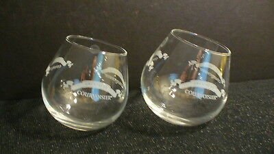 Courvoisier Cognac Roly Poly Swinging Sipping Glasses France - 2