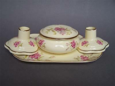 Adderley Bone China 'FLORAL' Pattern 4 Piece Dressing Table Set
