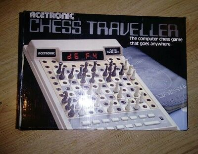 Vintage Acetronic Chess Travler Electronic Chess Game