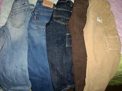 Boys 4T Lot of 6 Long Pants Various Styles and Colors.  Fall Winter good brands