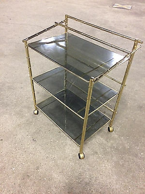 Bamboo  Brass Tea Cart from 1977