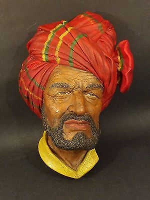 Vintage ~ Bossons Chalkware ~ Abdhul ~ Wall Decoration ~ 1959
