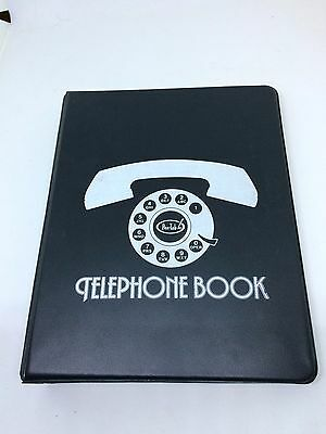 Vintage Telephone Book Address Book Pentab Vinyl Binder with A-Z All New Pages