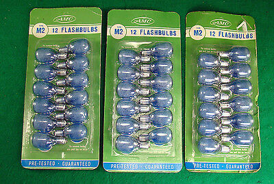36 Vintage  New in Package  AMC Co.  M2 Flashbulbs Blue  sylvania ??