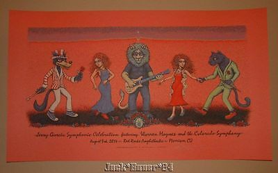 Marq Spusta Jerry Garcia Symphonic Celebration Red Rocks Morrison Poster Print