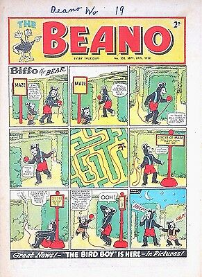BEANO - 27th SEPTEMBER 1952 (25 Sept - 1 October) - YOUR WEEK OF BIRTH ?? FINE
