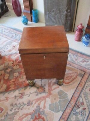 MAHOGANY CONVERTED WINE COOLER(early 19th cent.)