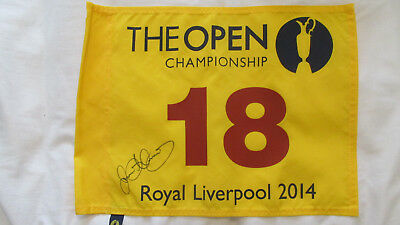 British Open 2014 Royal Liverpool flag Signed by Winner Rory McIlroy (COA) PROOF