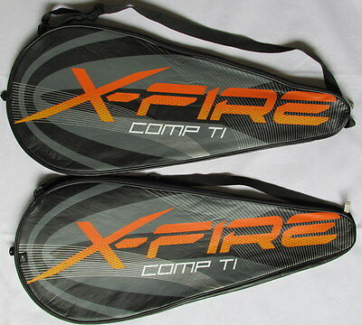 """PACK OF 2 DUNLOP X-FIRE COMP Ti 27"""" ADULT TENNIS RACKET COVERS F7/0804"""