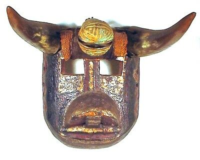 Antique Maya Bull Mask & Bell Ex: Sotheby's '77