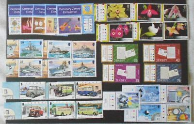 GB Jersey 6 full sets 2008 - Eisteddfod, Orchids, Weather, Letters, Ships MNH