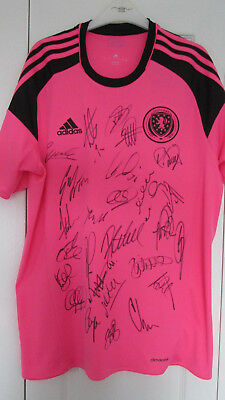 Signed Scotland 2016/18 Away Shirt Signed by 26 (PROOF & COA)