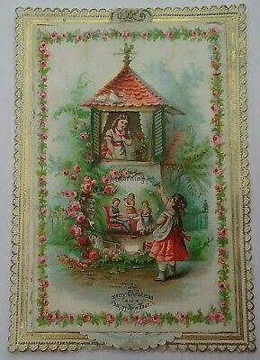 Lovely Victorian Christmas,New Year Card. PLEASE read description