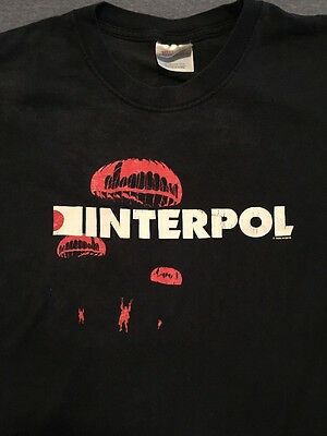 Vtg Interpol Antics Tour Promo Shirt Indie Rock Band Joy Division Strokes Cure