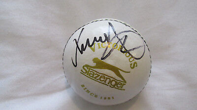 Signed James Anderson cricket ball Exact Proof & COA England Bowler 500 Wickets