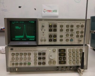 HP 3566B Spectrum Analyzer with Display includes Interconnect Cables 100Hz-22GHz