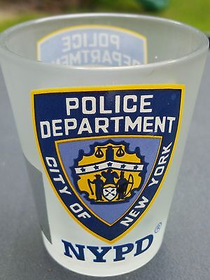 Nypd Police Department City Of New York Frosted Shot Glass
