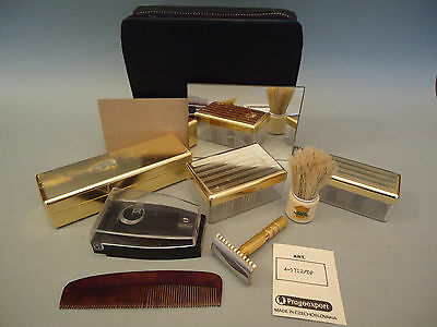 Vintage Travel Shaving Set Safety Razor Soluna - Czechoslovakia