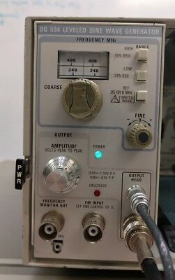Tektronix SG 504 Leveled Sine Wave Generator w/ Output Head - Working