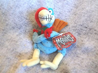 "1998 MEANIES SHOCKING STUFFERS 7"" COLD TURKEY PLUSH BEANIE~NEW with TAG"