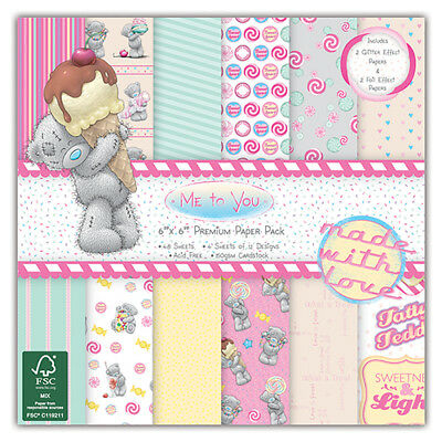 """Trimcraft ~ Me to You ~ Sweet Shop ~ 6x6"""" Paper Pack ~ 48 x 150gsm sheets"""
