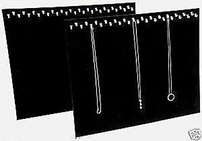 2 Piece Necklace Pendant Display Stand 29 Hooks Each Black Velvel Easel Back