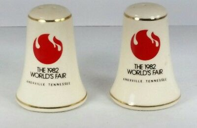 Vintage The 1982 World's Fair Salt & Pepper Shakers Set