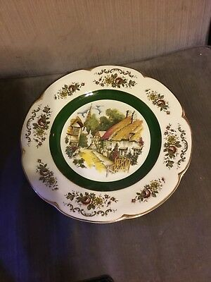 vintage ascot wood and sons sevice plate old world alpine white 11""