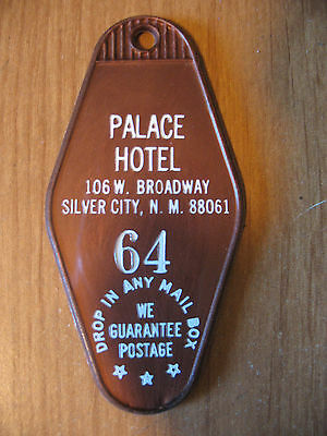 Vintage Palace Hotel Room Key Tag Fob Only Silver City, New Mexico