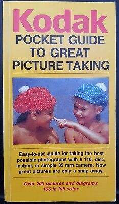 Kodak Pocket Manual Photography Taking Great Pictures 35mm Camera Book Guide