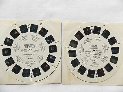 View Master  2 Reels  Space  Guided Missiles  +  Vanguard Launching   Rare