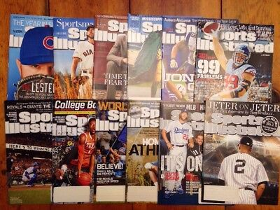 Lot 12 SPORTS ILLUSTRATED Magazines Sept-Dec 2014 Jonas Gray  Anthony Davis