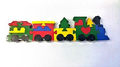 Puzzle train by Lenox wooden 19 pieces New