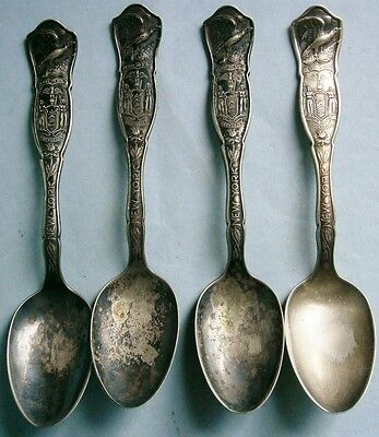 (4) State of New York Souvenir Spoons from the Early 1900's