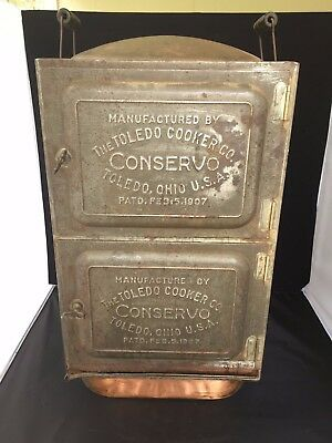 Antique 1907 Conservo Steamer Toledo Cooker Portable Stove Steam Canner Smoker