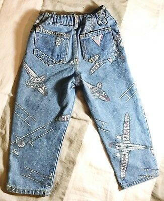 GUESS Authentic Vintage Airplane Denim Jeans : Toddler Kids 3 : Extremely rare!
