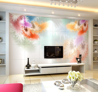 3D Feathers Pattern 8  Wall Paper Murals Wall Print Wall Wallpaper Mural AU Kyra