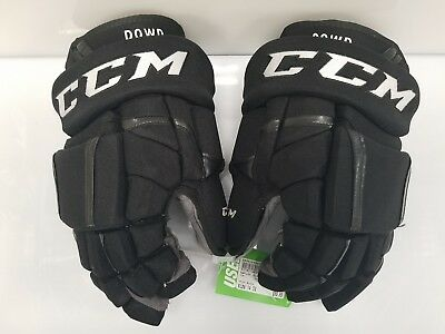"Nic Dowd LA Kings Game Used CCM Pro HG12 Hockey Gloves Black 14"" 2016-2017"