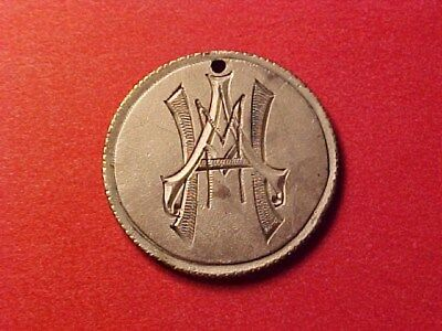 Love Token Monogram Engraved Seated Liberty Silver Dime 1878