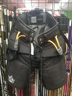 Jeff Zatkoff LA Kings Game Used Vaughn Pro Goalie Pants Black XL 2016-2017